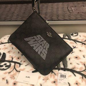 NWT Star Wars pouch wristlet coach